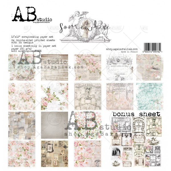 Somewhere - Scrapbooking Paper Pad - A.B. studio