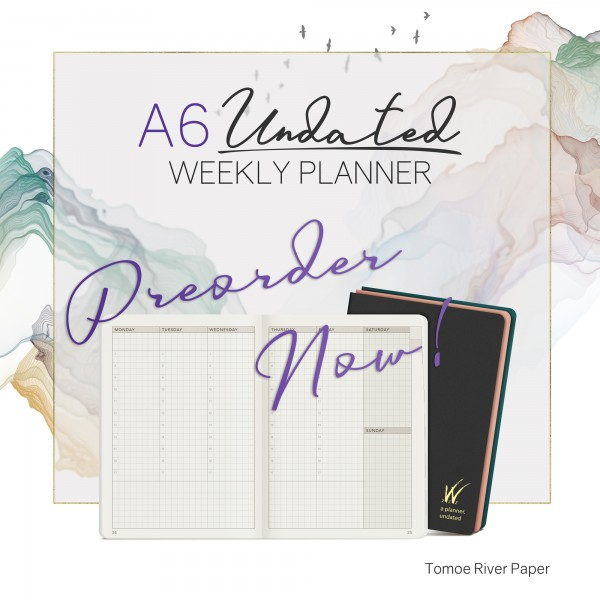 A6 Undated Weekly Planner
